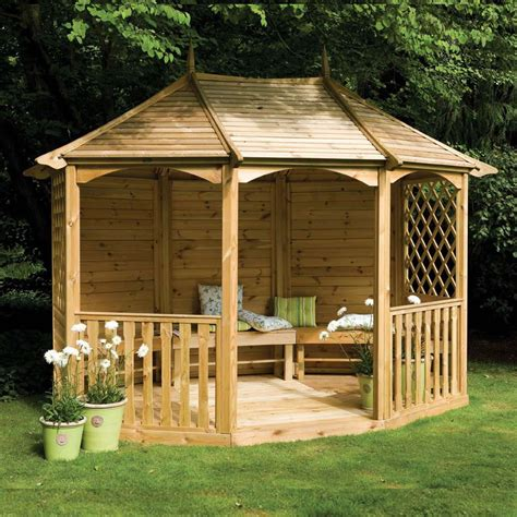 Wooden Garden Gazebo Wooden Garden Gazebo Kits Pergola Design Ideas