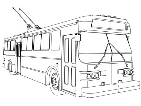 bus coloring pages wecoloringpage bus coloring page