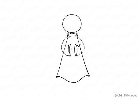 jak krok po kroku narysowac dziecko aniola