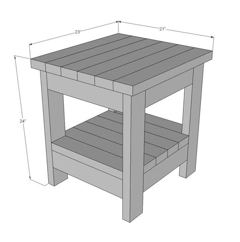 Bedroom End Tables Plans by White Build A Tryde End Table With Shelf Updated