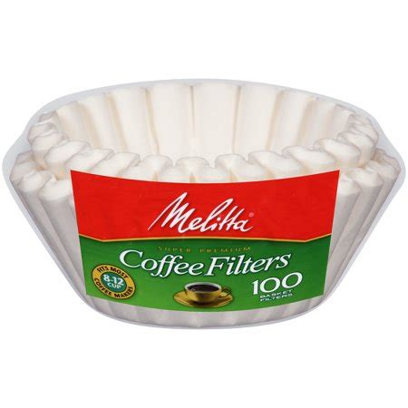 Coffee purists want to avoid the paper flavor of unbleached coffee filters, while many people aren't comfortable with the idea of bleached paper straining their beans. Melitta White Paper Basket Coffee Filters 8-12 Cup Size 100 ct Bag - Walmart.com