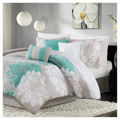 jane floral print comforter set aqua 7pc target