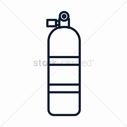 Oxygen Tank Vector Clipart Scuba Drawing Graphic
