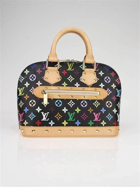 louis vuitton black monogram multicolor alma bag yoogis