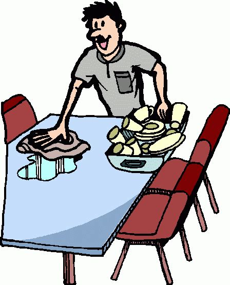 clear the table clipart exercises activities