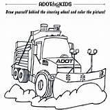 Adot Snowplows Snowplow Coloring sketch template