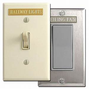 Short Engraved Light Switch Wall Plate Name Tags