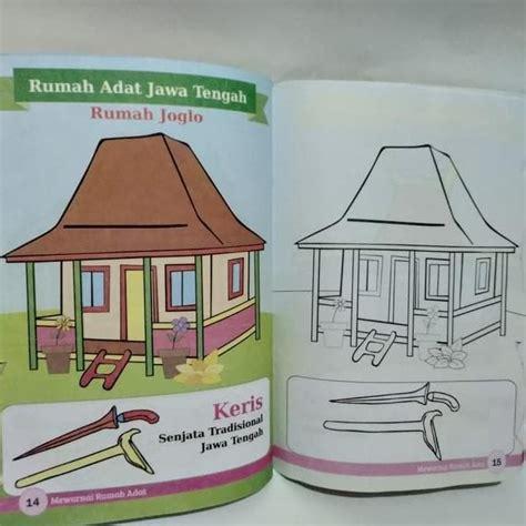 gambar mewarnai rumah adat indonesia cerdas dengan