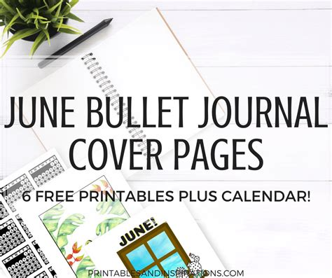 june bullet journal cover page ideas printables printables