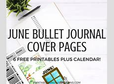 June Bullet Journal Cover Page Ideas Free Printables