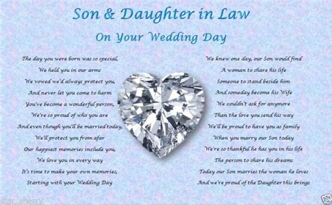 son daughter  law wedding day poem gift wedding gifts  wedding day