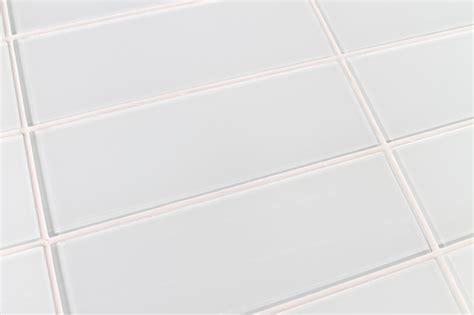 snow white 4 quot x 12 quot glass subway tile contemporary