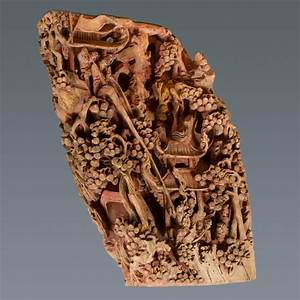 Antique, Chinese, Hand, Carved, Temple, Corbel, With, Original, Red, Polychromy, For, Sale, At, 1stdibs