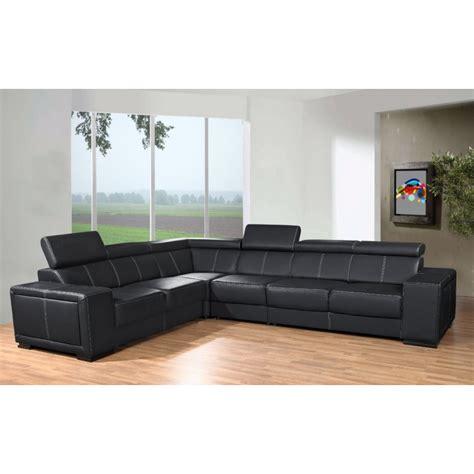 canapé d angle grande taille canapé d 39 angle de grande taille 6 places caaria noir en