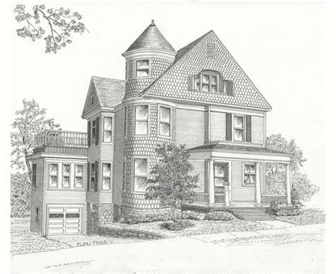 pencil drawings   houses drawings art gallery