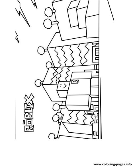 Kleurplaat Roblox by Roblox Build Coloring Pages Printable