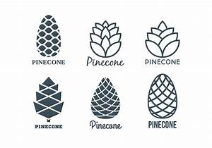 Flat Pine Cones Logo Template Collection - Download Free ...