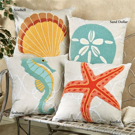 Washed Ashore Beach Themed Decorative Pillows