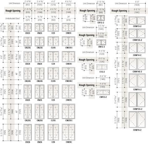 superb interior door size chart  standard casement