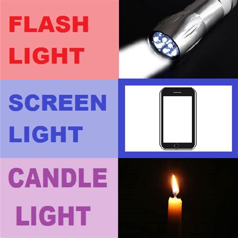 candle light app flashlight screenlight and candle light app with