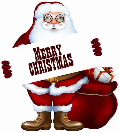 Santa Merry Claus Christmas Clipart Label Clip