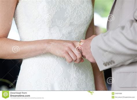 wedding ring exchange royalty free stock photos image