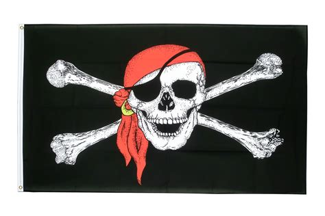 Drapeau Pirate Avec Foulard  90 X 150 Cm  M Drapeaux