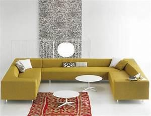 20 propositions canape moderne qui vous enchantera With tapis jaune avec canapé gentry patricia urquiola