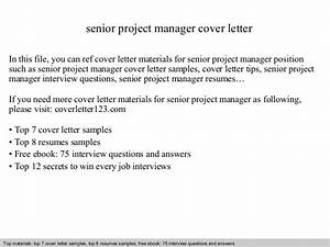 senior project manager cover letter With cover letter for a senior management position
