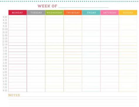 free weekly schedule free printable weekly schedule
