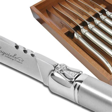 couteau a steak laguiole coffret de 6 couteaux steak prestige enti 232 rement forg 233 laguiole actiforge