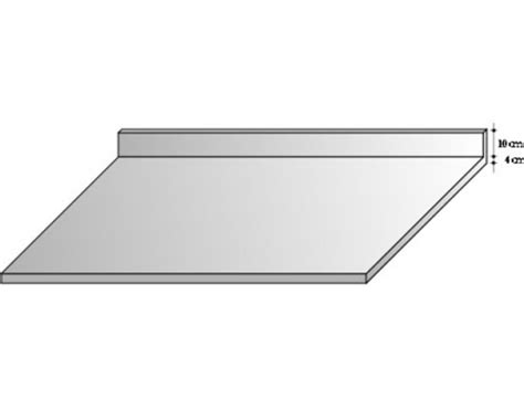 plan de travail cuisine 70 cm plan de travail inox 10 10ème avec dosseret p 70 cm