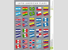 Latin American Flags stock vector Illustration of