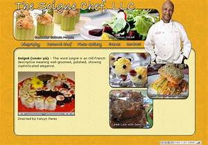 Personal chef web design business website personal for Chef portfolio template