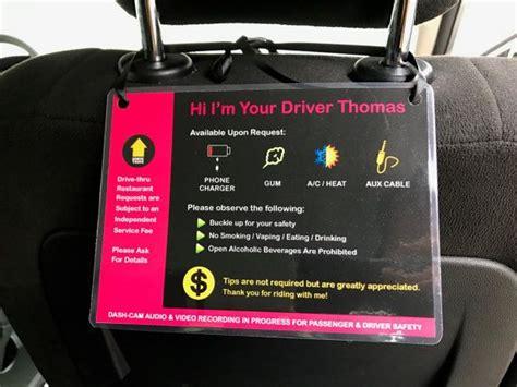 2 X Uber Lyft 5 Star Ratings Sign Car Display Cards Custom