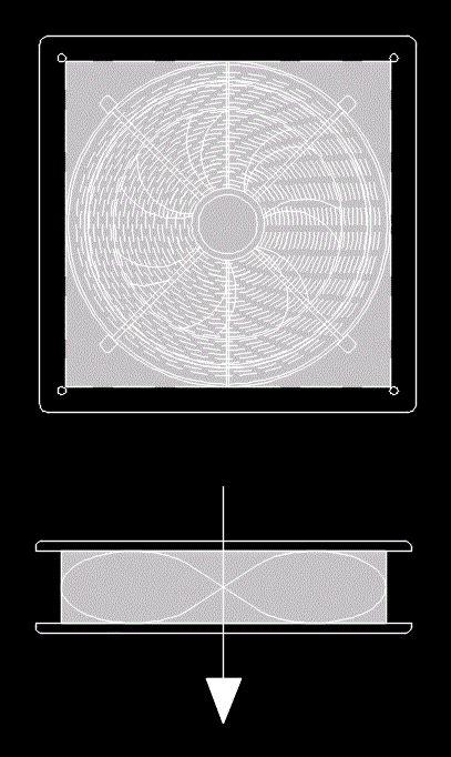 wall mounted fan  autocad  cad   kb bibliocad
