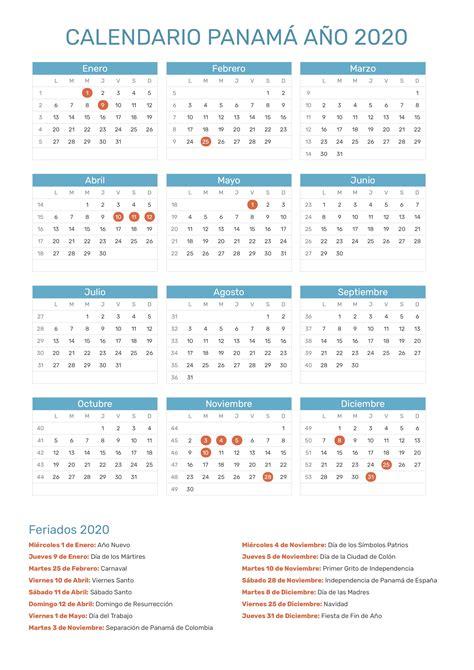 calendario de panama ano feriados