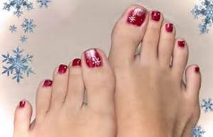 Christmas toe nail design step by style
