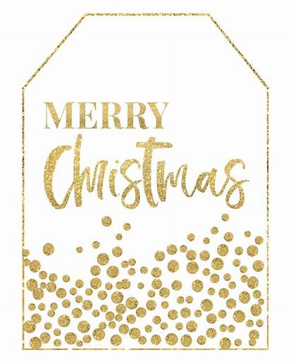 Christmas Printable Gold Tags Merry Paper Tag