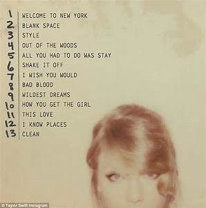 Taylor Swift releases tracklist for 1989 album | Daily ...