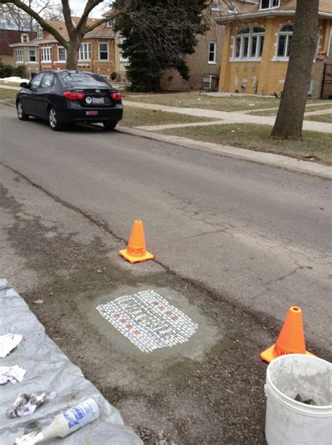 chicago potholes filled  funny rebel artist autoevolution