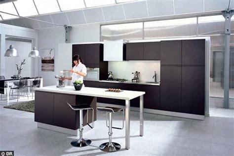 modele cuisine avec ilot central table decoration cuisine ilot