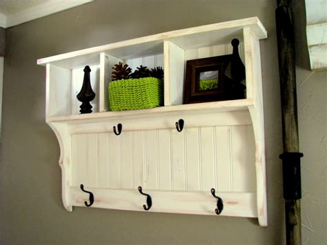 Entryway Shelving - blue roof cabin entry shelf