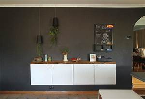 DIY Floating Buffet Using IKEA METOD Cabinet - Shelterness