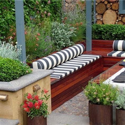 backyard backyard garden patio ideas with chair and plants