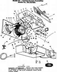 Kenmore Sears Model 78 Central System Humidifier Parts