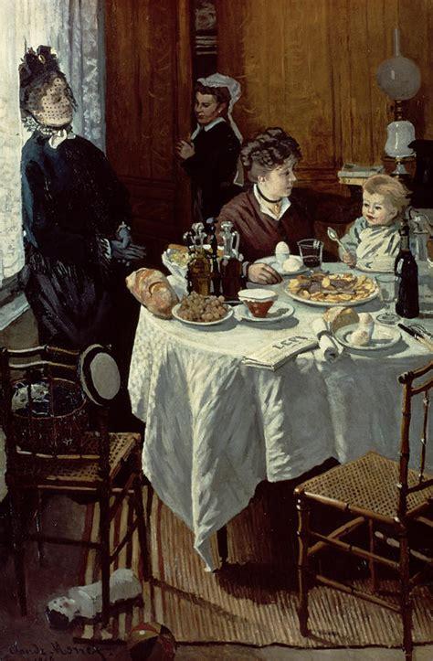 breakfast painting  claude monet