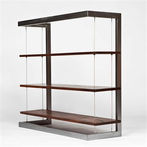 "Suspended Bookshelf  Walnut (48""l X 18"" W X 44"" H"
