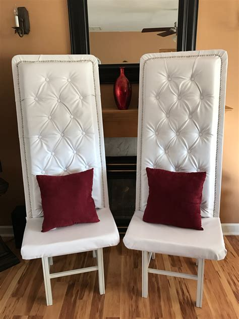 luxury formal high back tufted chairs rental maryland only