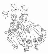 Embroidery Dance Square Coloring Designs Patterns Pages Flickr Hand Stitch Ab Line Dancing Cross Transfers Pattern Applique Fabric Dancers Mmaammbr sketch template